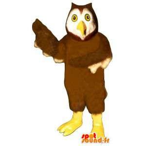 Skjule brun og hvit ugle - MASFR007451 - Mascot fugler