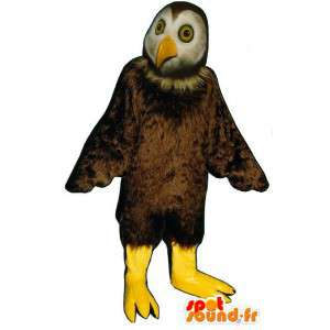 Brown suit and white owls - MASFR007456 - Mascot of birds