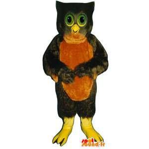 Mascotte de chouette marron et rouge - MASFR007460 - Mascotte d'oiseaux