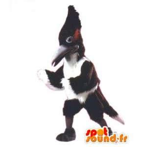 Valkoselkätikka maskotti mustavalkoinen jättiläinen