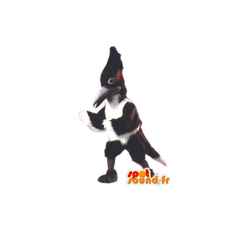 Mascot woodpecker black and white giant - MASFR007462 - Mascots of the ocean