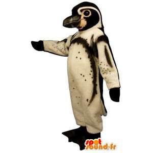 Mascot pinguim preto e branco