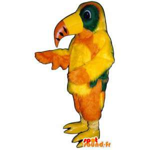 Mascotte de perroquet multicolore très réaliste