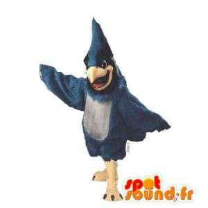 Niebieski i czarny ptak maskotka - MASFR007490 - ptaki Mascot