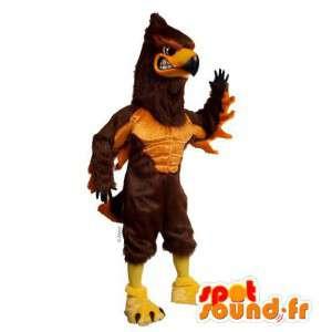 Mascotte avvoltoio marrone e beige - MASFR007491 - Mascotte degli uccelli