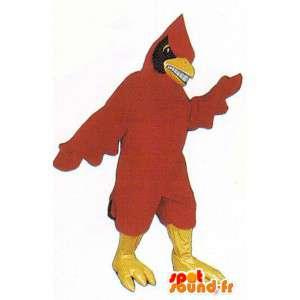 Mascot red and black bird - MASFR007492 - Mascot of birds