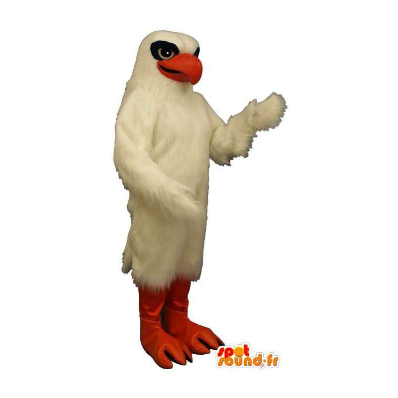 Costume white eagle, black and orange - MASFR007501 - Mascot of birds