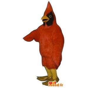 Mascot red and black bird - MASFR007502 - Mascot of birds