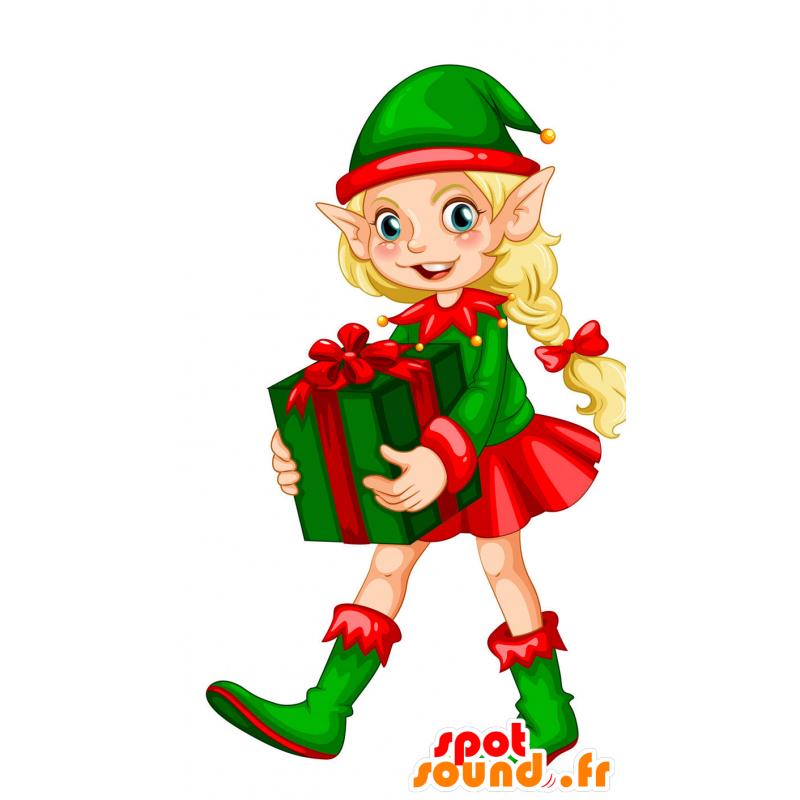 Christmas Elf.Christmas Elf With Pointy Ears Mascot