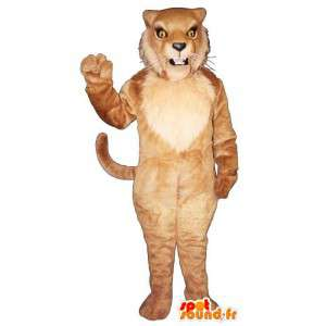 Marrom traje tigre, o leão