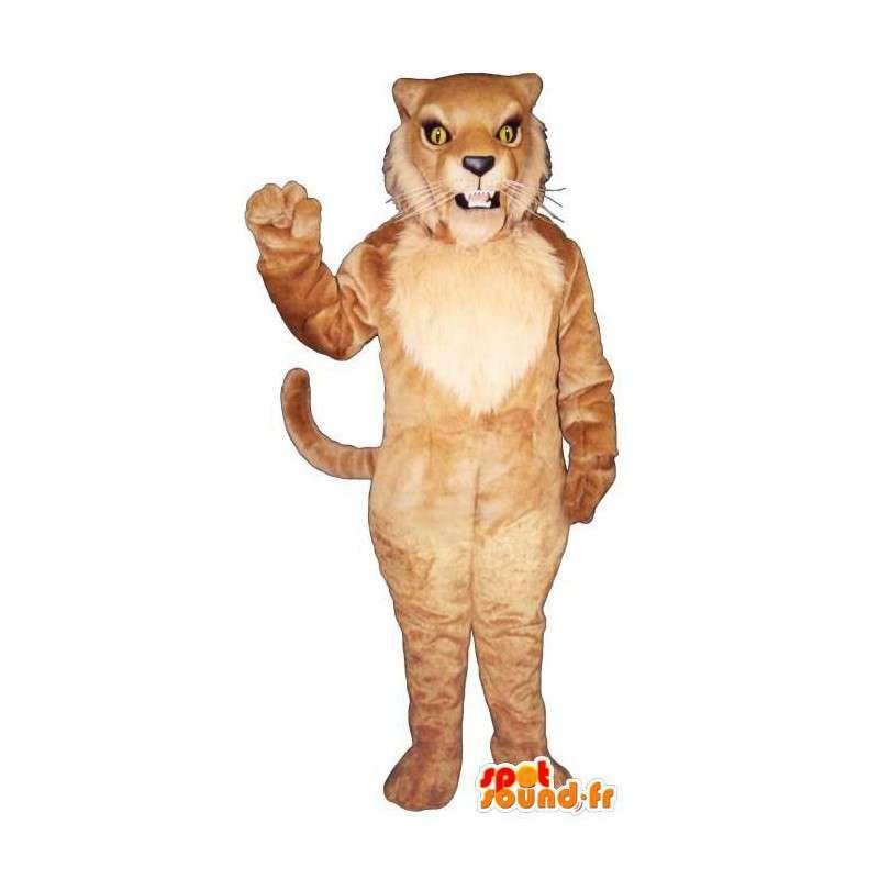 Hnědý tygr kostým, lev - MASFR007533 - Tiger Maskoti