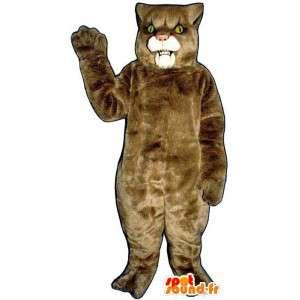 ベージュの雌ライオンの衣装 - ぬいぐるみサイズ