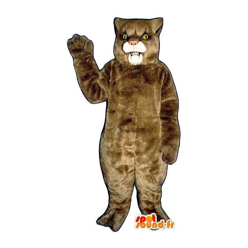 Lioness beige suit - Plush all sizes - MASFR007537 - Lion mascots