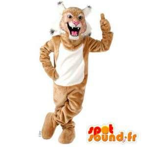 Bruine en witte tijger mascotte. bruin tijgerkostuum - MASFR007538 - Tiger Mascottes