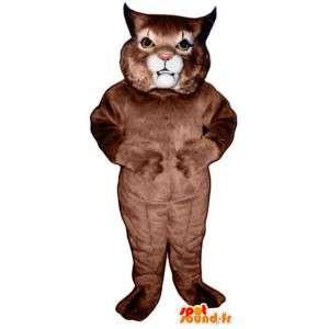 Mascot iso kissa, ruskea cat - MASFR007539 - kissa Maskotteja
