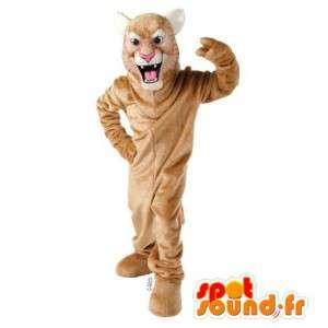 Tiger-Maskottchen-beige und weiß - MASFR007546 - Tiger Maskottchen