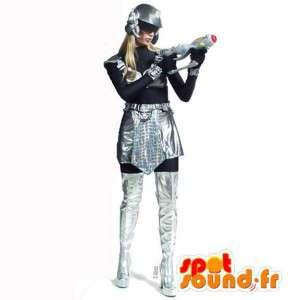 Futuristisk kvinnamaskot - plysch i alla storlekar - Spotsound