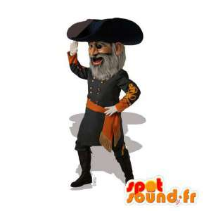 Pirate Captain μασκότ - βελούδινα μεγέθη