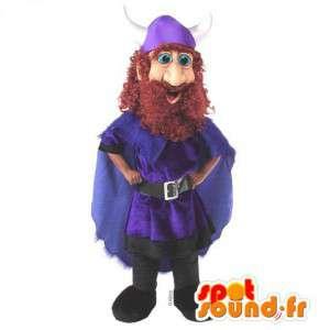 Mascot Viking med en blå kappe - MASFR007563 - Maskoter Soldiers
