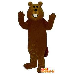 Brown mascota del castor