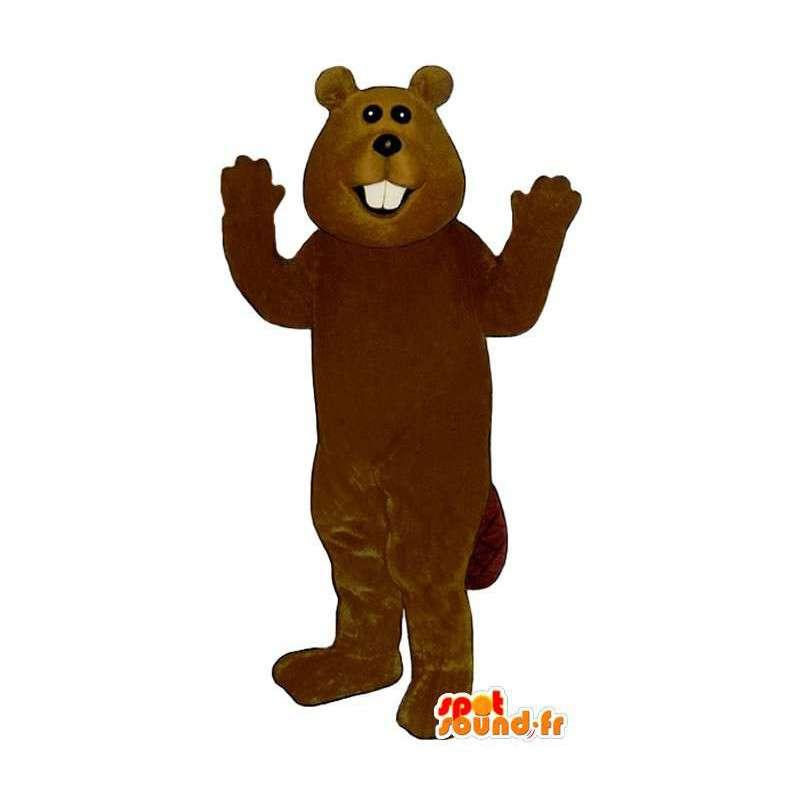 Brown beaver mascot - MASFR007574 - Beaver mascots