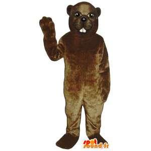 Hnědý bobr kostým - Plyšové velikosti