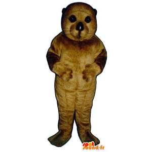 Selo mascote castanho