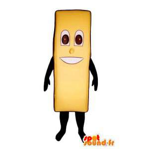 Mascot giant fried yellow - MASFR007578 - Fast food mascots