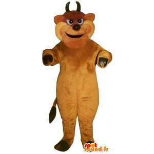 Mascotte de taureau, de bouc marron