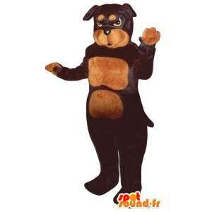 Mascot schwarze und braune Hund - MASFR007586 - Hund-Maskottchen