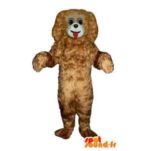 Mascotte de chien marron, tout poilu - MASFR007588 - Mascottes de chien