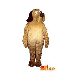 Mascotte de chien beige et noir - MASFR007590 - Mascottes de chien