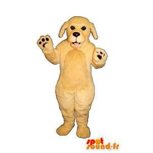 Hund Maskottchen beige - Plüsch alle Größen - MASFR007594 - Hund-Maskottchen