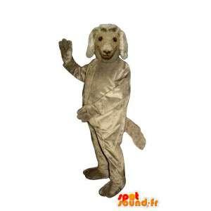 Grau Hund Maskottchen - Plüsch alle Größen - MASFR007595 - Hund-Maskottchen