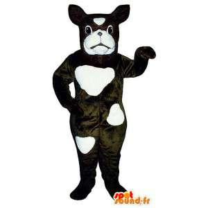 Schwarzen Anzug und weißen Hund - MASFR007596 - Hund-Maskottchen
