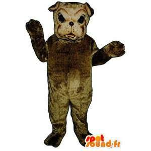 Brown Bulldogge Maskottchen - MASFR007597 - Hund-Maskottchen