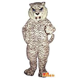 Mascote do tigre branco e preto - MASFR007619 - Tiger Mascotes