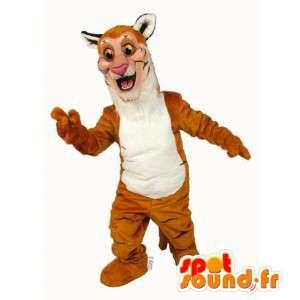 Tiger mascot orange and white - MASFR007627 - Tiger mascots