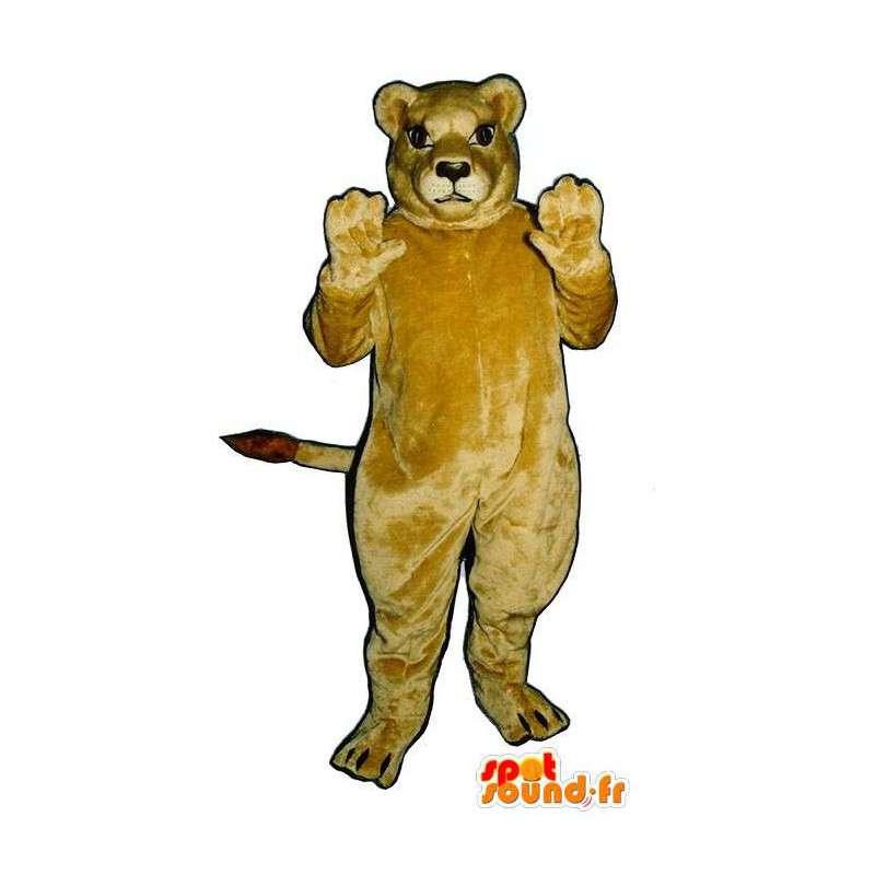 Mascotte de lionne géante – Peluche toutes tailles - MASFR007631 - Mascottes Lion