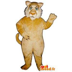 Gul og hvit tiger maskot - MASFR007632 - Tiger Maskoter