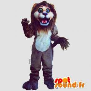 Brown lion mascot - Plush all sizes - MASFR007644 - Lion mascots