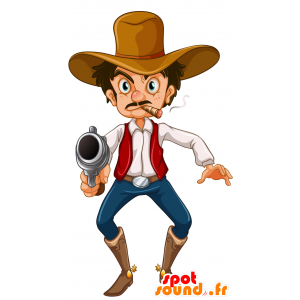Bandit mascot, mustachioed man with bad air - MASFR030697 - 2D / 3D mascots