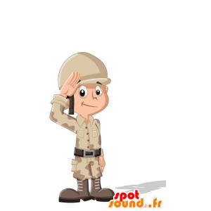 Mascotte militare. soldato Mascot - MASFR030706 - Mascotte 2D / 3D