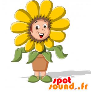 Maskotti lapsi pukeutunut kukassa. kukka maskotti - MASFR030710 - Mascottes 2D/3D