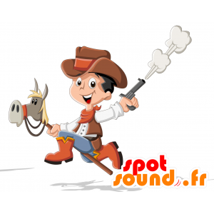 Child mascot dressed as a cowboy - MASFR030711 - 2D / 3D mascots