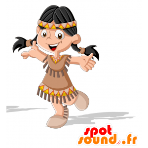 Mascotte d'Indienne en habit traditionnel - MASFR030715 - Mascottes 2D/3D