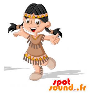 Mascotte di Indian in abiti tradizionali - MASFR030715 - Mascotte 2D / 3D