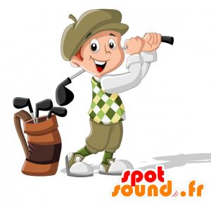 Mascotte de golfeur en tenue traditionnelle - MASFR030716 - Mascottes 2D/3D
