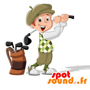 Golfer mascotte in traditionele kleding - MASFR030716 - 2D / 3D Mascottes
