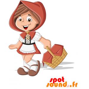 Mascot Little Red Riding Hood. girl mascot - MASFR030717 - 2D / 3D mascots